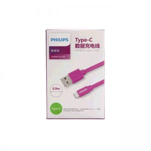 Philips Type C Cable 0.9M - Purple