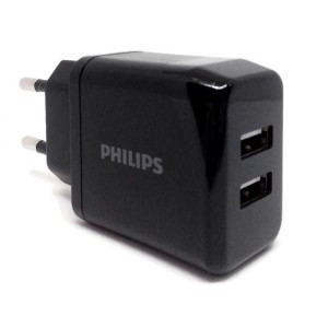 Philips Dual Ports Wall Charger 5V/2.4A