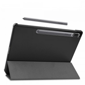 "Tuff-Luv Smart Folio Stand Case for Samsung Galaxy Tab S7 Plus T970/T975 (12.4"")  - Black"