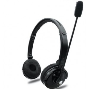 Tuff-Luv Bluetooth 4.1 Stereo Dual Ear Headset With Microphone - Black