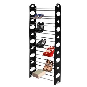 FIne Living 1000754 Shoe Rack 10 Tier - Black