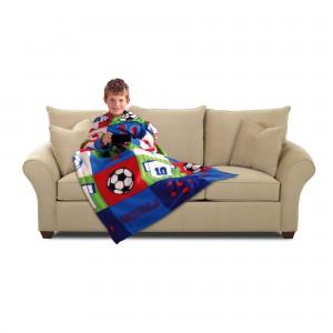 Jeronimo 8000569 Sleeved Blanket - Football