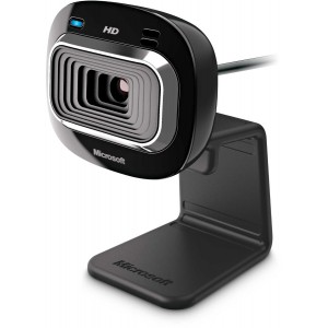 Microsoft LifeCam HD-3000 - True 720p HD, 16:9 Widescreen, Noise Reduction microphone, Universal Attachment Base, Retail Pack