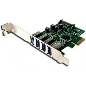 Mecer PCIe 4Port USB 3.0 Adaptor Card W/LP Bracket