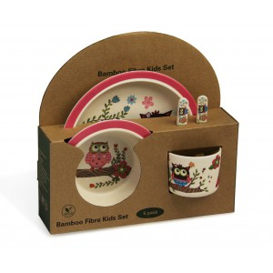 Kids Bamboo Dining sets - Owl