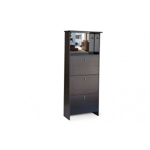 Fine Living Shoe Cabinet - 3 Tier Mirror Vanity -