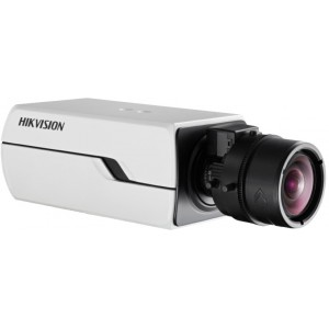 Hikvision 4-Line Smart IPC 1.3-MP WDR Box Camera. Smart Codec, 3D DNR, On-board Storage, Smart VQD, Smart Facial Detection, Audio Detection, Two way audio, Defog