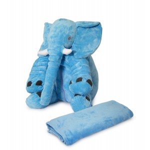 Nuovo - Ellie Cushion with Blanket - Light Blue