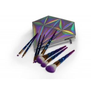 Makeup Brush Set - 8pc - Unicorn Blue/Purple
