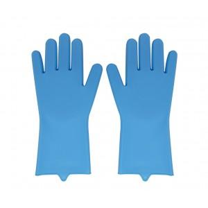 Silicone Kitchen Gloves - Blue