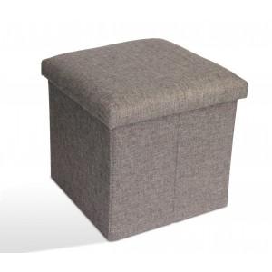 Storage Ottoman Single - Light Grey