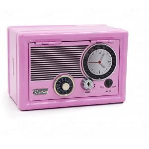 Retro Radio Safe - Pink