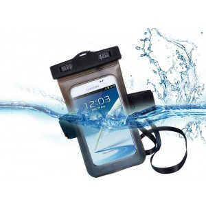 Universal Waterproof Case/Bag for Smartphones with Neck Strap