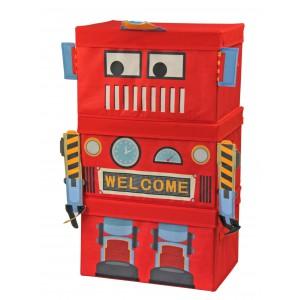Jeronimo - Robot Storage Boxes 3pc - Red