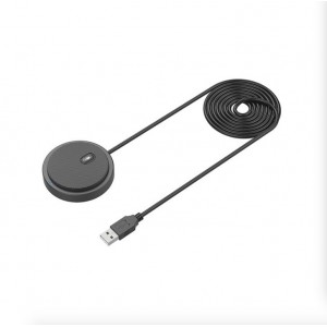 Tuff-Luv Omnidirectional / Non Directional Muteable USB Conference Room Microphone 2 Meter Cable - Black