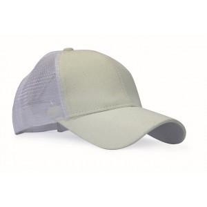 Baseball Ponytail Cap - White/Silver Glitter