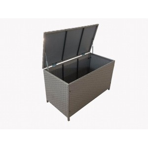 Fine Living 4000082 Rattan Storage Container - Dark Grey