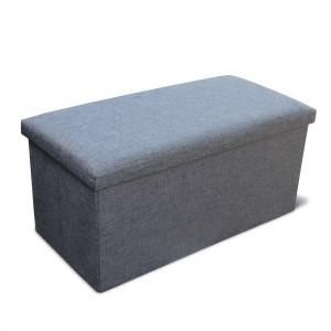 FIne Living Storage Ottoman Double - Grey