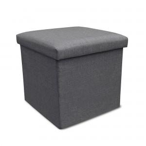 Storage Ottoman Single - Grey