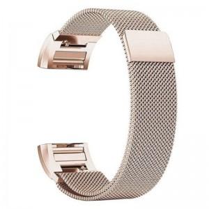 Fitbit Versa Magnetic Milanese Loop Stainless Steel Watch Band - Metallic Gold