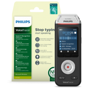 Philips DVT 2810 with Dragon Recorder Edition – Single Voice only