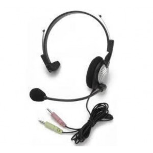 Stereo Headset with Microphone (Stereo Plugs)