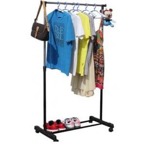 Adjustable Mobile Clothing Rail - 137cm