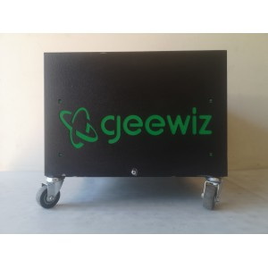 12V Steel Battery Cabinet with wheels - Dual Battery, Used, Good Condition(Minor Dents and Scratches)
