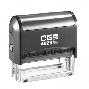 CGS Pro Rubber Stamp Text Self Inking 82X25mm