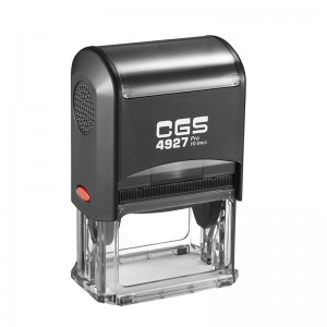 CGS Pro Rubber Stamp Black Self Inking 10 Lines 60X40mm