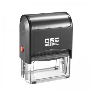 CGS Pro Rubber Stamp Text Self Inking 10 Lines 75X38mm