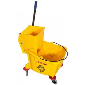 Bucket Mopping Trolley Single 36L On Castors & Wringer