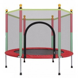 Toddler Kids Trampoline with protection net - Round RED