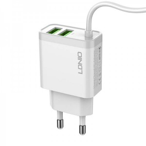 LDNIO A321 USB Fast Charger 3.1A With Lightning 2x USB Ports