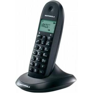 Motorola C1001 Black Dect Cordless Phone Eco Plus Mode Caller ID