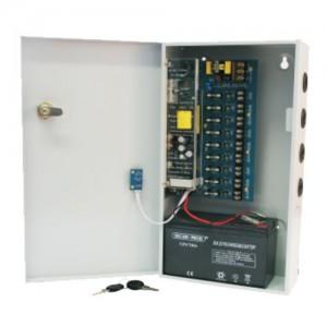 PSU - CCTV 9Way 8 Amp Distribution Box - Powerstore