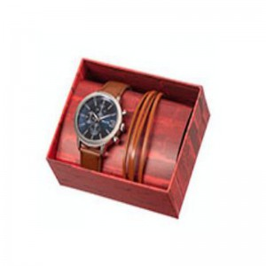 Tomato Gents Set,Tan Leather 3 Strand Bracelet Watch