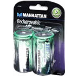 Manhattan 419369 Rechargeable Battery 2-D NIMH