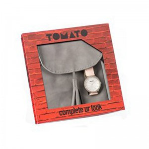 Tomato Ladies Silver & Nude Watch