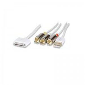 Manhattan 393713 iLynk AV Cable-Composite video, 30-pin connector, USB