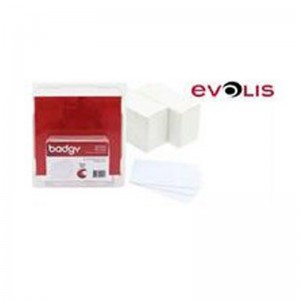 Evolis CBGC0020W CR80 Blank 100 Pack PVC White Cards