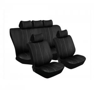 Stingray GALAXY 11PC (BLACK/SILVER) Car Seat Covers