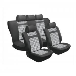 Stingray TARTAN GREY GINGHAM 11PC SEAT COVER SET SA151 Car Seat Covers