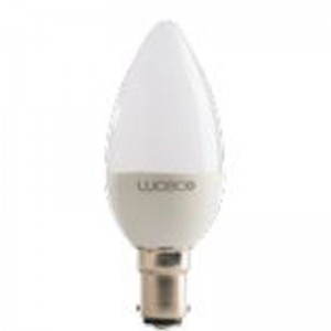 Luceco 3PK CANDLE B15,3.5W,250LM,2700K.WARM WHITE,NON DIMM