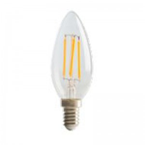 Luceco Filament Candle B22, 4W, 470LM Warm White, 2700K Dimmable Lamp