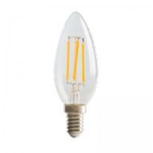 Luceco Filament Candle B22, 4W, 470LM Warm White, 2700K Non-Dimmable Lamp