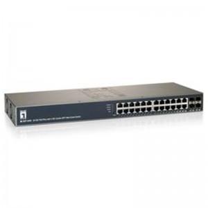 LevelOne GEP-2450 24-Port Web Smart Gigabit PoE Switch