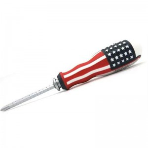 Noble Double Sided Adjustable Screwdriver with Phillips and Slotted Tip Types-Red, Retail Packaging, 3 Months Warranty