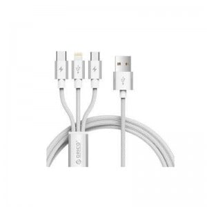 Orico 3-in-1 Lightning, USB-C, Micro USB 1.2m ChargeSync Cable
