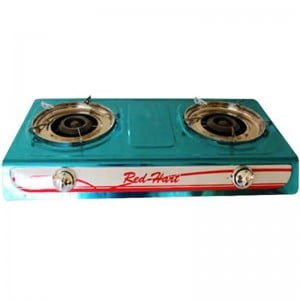 Casey Red 2 Plate Stainless Steel Gas Stove